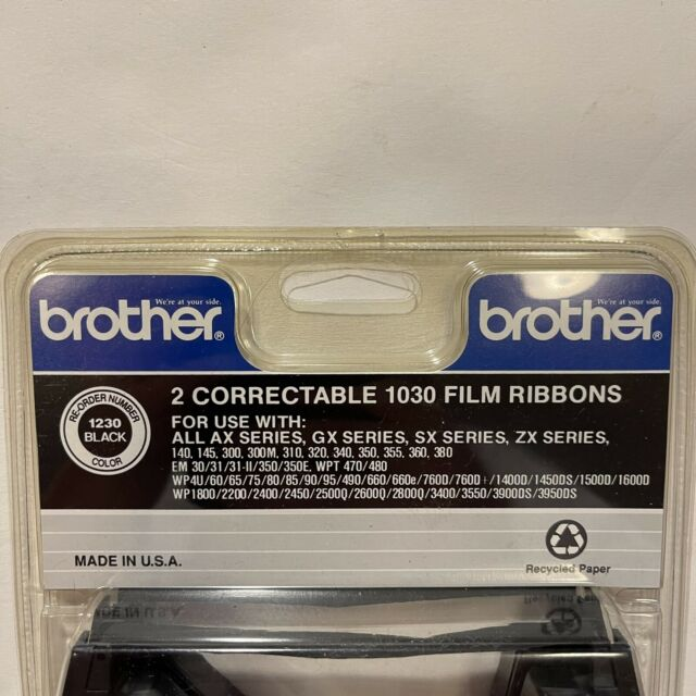 2pc Brother Correctable 1030 Film Ribbons Typewriter Black 1230 AX Series for sale online