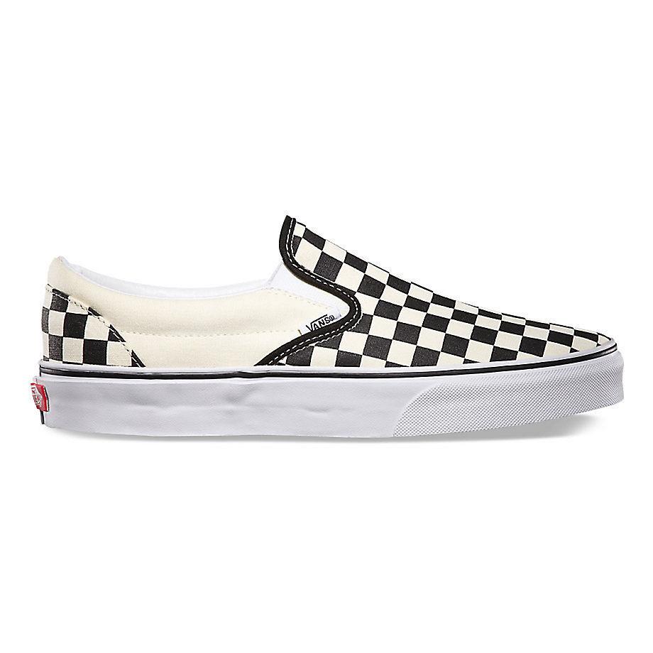 Vans yebww Classic Black/White Checkerboard Slip-on Unisexe Sizes Sizes Unisexe 373ebe