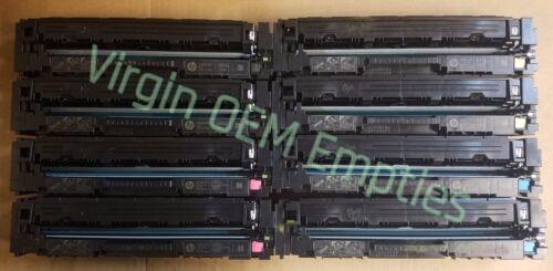 4 sets Virgin Empty HP CF400A CF403A INTRO Toner Cartridges FREE SHIP 201A