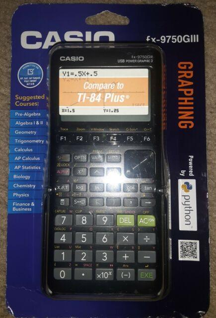 Factory Sealed Casio Graphing Calculator w/ Python fx-9750GIII White/Black New
