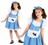Childrens Dorothy Fancy Dress Costume Wizard Of Oz Outfit Book Week  3-13