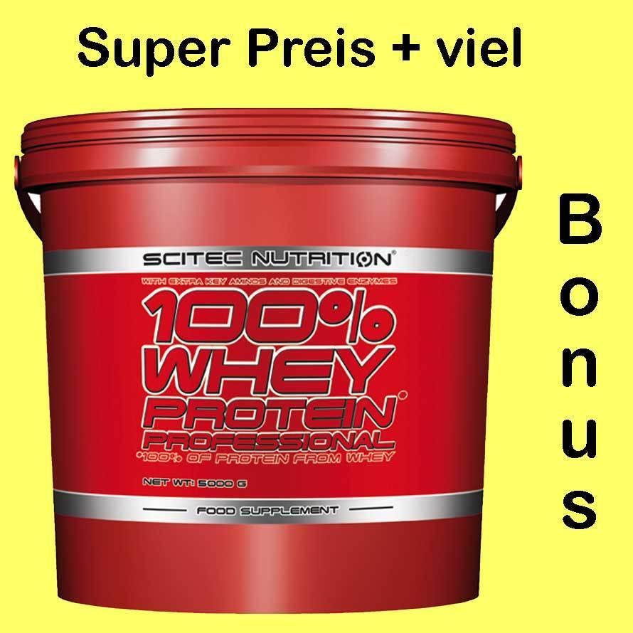 Scitec Bromelain Nutrition 100% Whey Protein Prof.5000g Eimer+Proben+1.D. Bromelain Scitec feaf3c