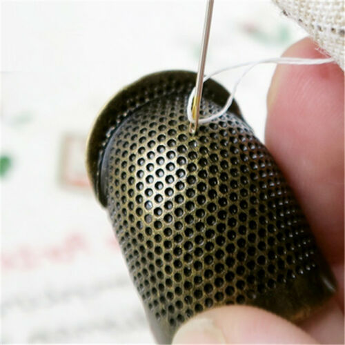 Thimble Antique Metal Finger Protector Brass Sewing Finish Fingertip Tool Kit FM