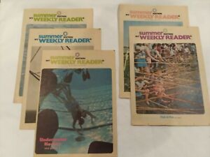 Lot/5 My Weekly Reader Magazine Summer Edition 1972 VG Some Markings