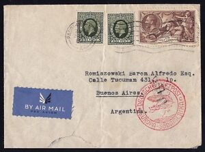 UNITED-KINGDOM-1937-ENGLAND-AIRMAIL-COVER-TO-ARGENTINA