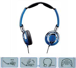 Casque-d-039-Ecoute-BLEU-Stereo-Dynamique-Leger-et-Pliable
