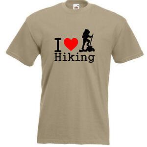 f2e33877 I LOVE HIKING T-SHIRT joke funny Mens Unisex Gift Tee Top Trekking ...
