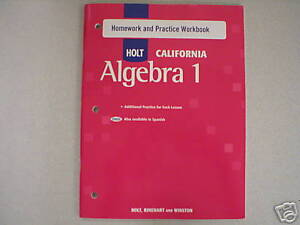 Holt california algebra 1 homework help |