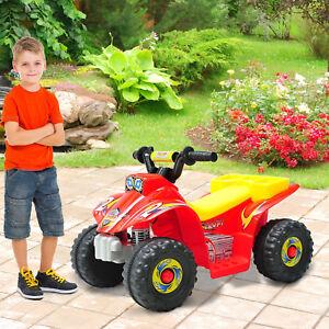 HOMCOM Quad Moto Eléctrica Niño Batería 6V 2.5 km/h 65x43x43cm Carga 20kg