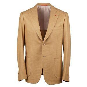 Isaia-Slim-Fit-039-Cortina-039-Golden-Soft-Woven-Wool-Cashmere-Sport-Coat-38R-Eu-48