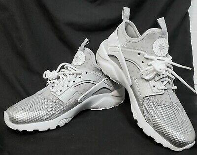 NEW Nike Air Huarache Run Ultra GS Metallic Silver/White Youth 847569 012 | eBay