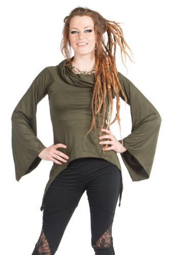 Drape Cowl Neck Boho Top Cowl Hooded Top Ladies Festival Boho Long Sleeve Top
