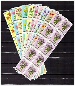 DEALER-STOCK-SAN-MARINO-MNH-Nuovi-1971-Flowers-10v-10-SETS-s32722