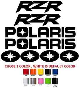 #686 POLARIS  RZR DYNAMIX 800 900 1000 XP  TEAM STICKER DECAL