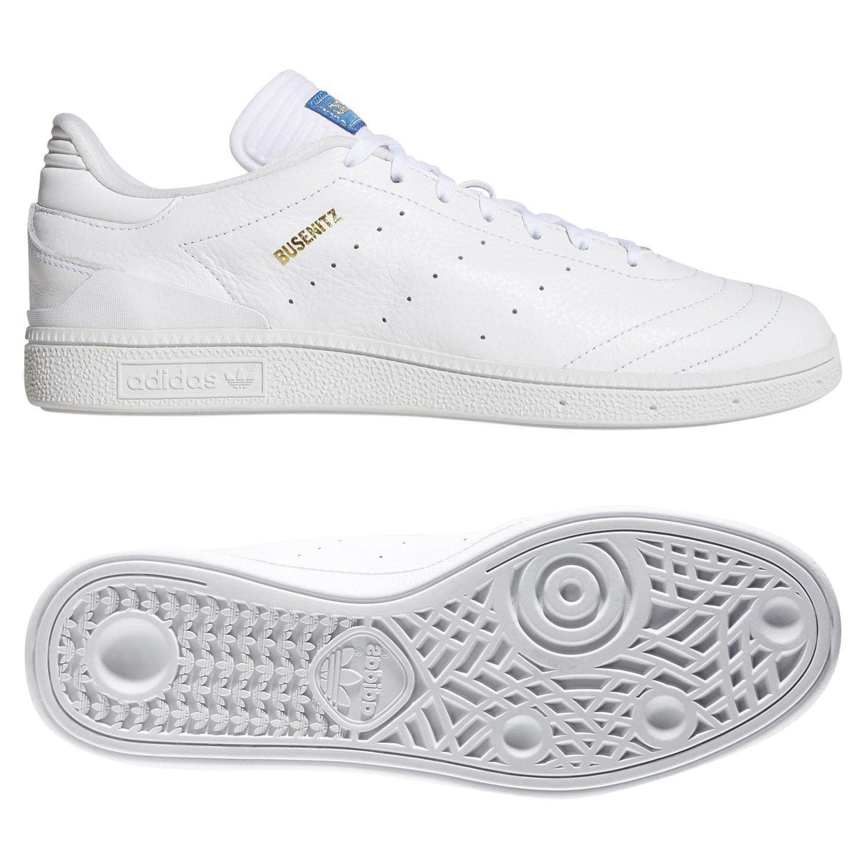 Adidas ORIGINALS herren BUSENITZ RX SKATE schuhe TRAINERS Weiß SKATEBOARDING NEW