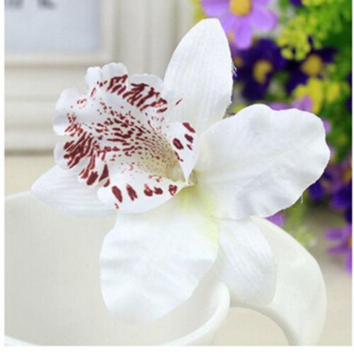 2X Bridal Wedding Orchid Flower Hair Clip Barrette Women Girls AccessoriesCLH