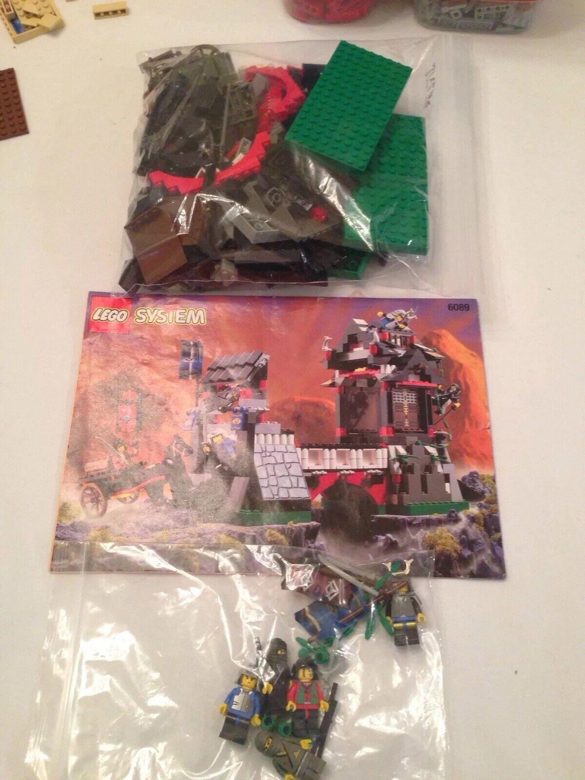 LEGO Castle Ninja Stone Tower Bridge 6089 100% COMPLETE w Instructions 1998
