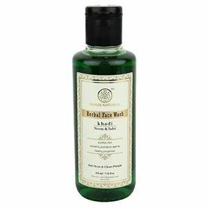 Khadi-Natural-Neem-amp-Tulsi-Face-Wash-210ml-Free-Shipping-choose-bulk