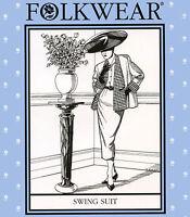 Folkwear Swing Suit 1950s Style Jacket & Slim Skirt Xs-xl Sewing Pattern 255