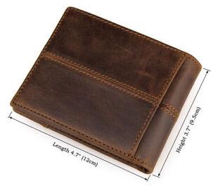J-M-D-Men-039-s-Imported-Crazy-Horse-Leather-Wallet-Bifold-Money-Clips-Card-Purse