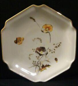 Vintage-Otagiri-Japan-Marked-Small-Ceramic-Plate-Golden-Poppy