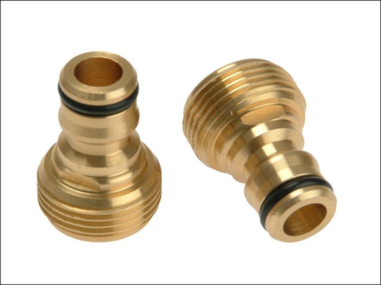 Rehau REH249596 Brass Tap Connector 3/4in - rustproof