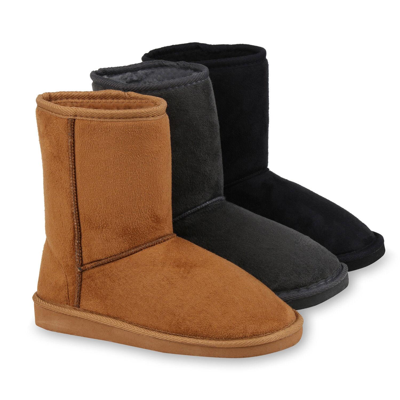 Damen Schlupfstiefel Warm Gefütterte Stiefel Profil Stiefeletten 820212 Schuhe