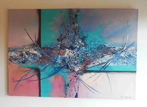 """""""Soul Window"""" Acrylique 3-d peinture l'artiste Hilde tution pièce unique-afficher le titre d`origine"""