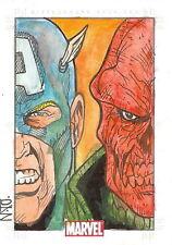 Marvel Heroes & Villains Sketch Card drawn by Raimundo Nonato