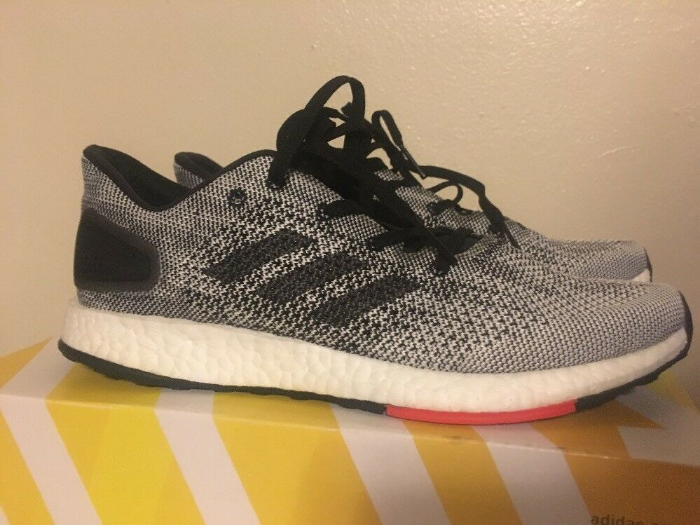 New Adidas Men's Size US 7.5 PureBoost DPR Running shoes - Black White S80993