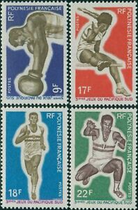 French-Polynesia-1969-Sc-247-250-SG97-100-South-Pacific-Games-set-MNH