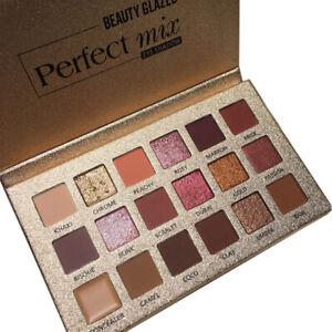18-Farben-Eyeshadow-Glitzer-Wasserdichte-Lidschatten-Creme-Makeup-Palette-FL