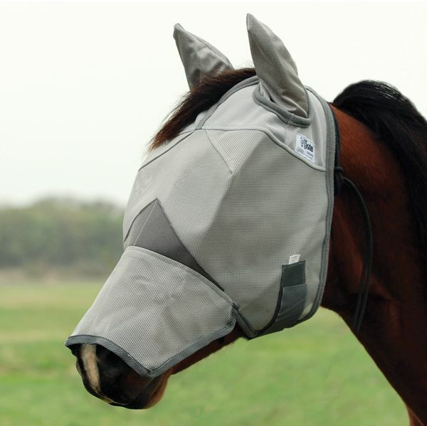 CASHEL CRUSADER FLY MASK for MINI FOAL Horse COVERS EARS and NOSE sun predection
