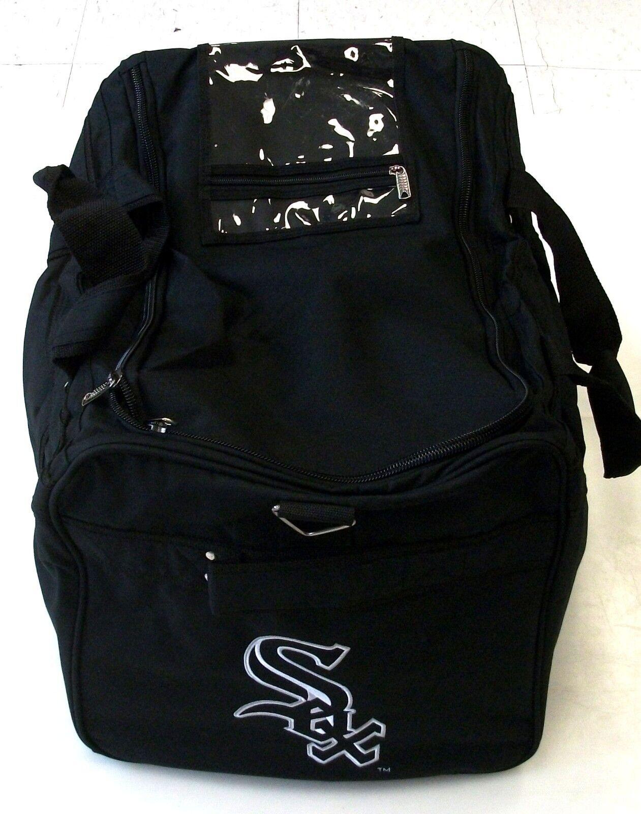 Nuevo Pro Return Bolsa de béisbol Blanco Sox De Chicago Equipo Duffel entrenadores Equipo Chicago Negro ecaebf
