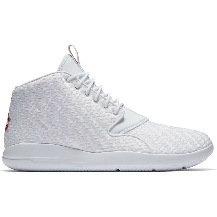 Men's Jordan Eclipse Chukka Shoe 881453-101 WHITE/GYM RED-BLACK Wild casual shoes