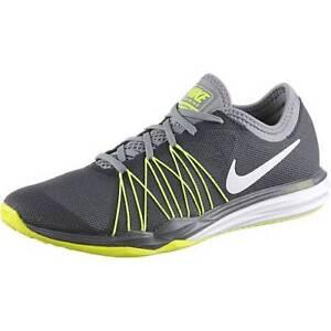 revendeur 946fe 663d2 Détails sur Nike Fusion Double Tr Hit Gris Jaune Espadrilles Chaussures  pour Femmes Jogging