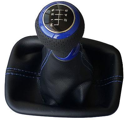 Passend für Seat leon 1P  6Gang Schaltknauf Schaltsack weiss 3D Carbon