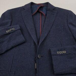 $499 Bugatchi Sport Coat Blazer Jacket Mens Size 40 Solid Blue Cotton