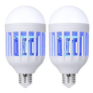 2-Packs-Light-Zapper-LED-Lightbulb-Bug-Mosquito-Fly-Insect-Killer-Bulb-Lamp-Home