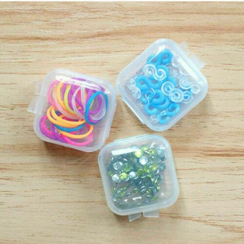 30 Pcs Mini Clear Plastic Box Earplug Jewelry Earing Storage Case Container Gift