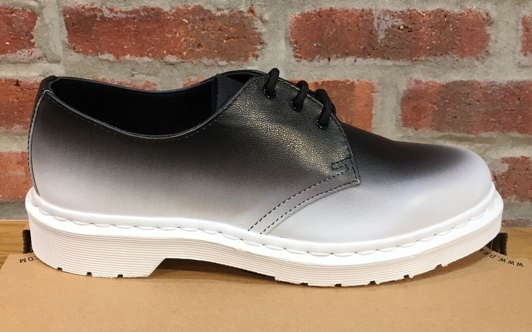 DR MARTENS 1461 UNISEX WHITE + BLACK FADE OUT BACKHAND SHOE