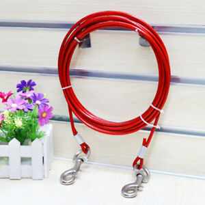 5m-10m-Metal-Steel-Tie-Out-Dual-Collar-Cable-Lead-Leash-Dog-Pet-Puppy-Wire