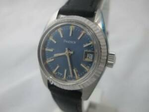 NOS-NEW-SWISS-MADE-WOMEN-039-S-STAINLESS-STEEL-PHENIX-WATCH-WITH-DATE-1960-039-S