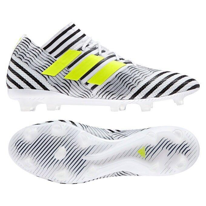 NIB MEN'S ADIDAS NEMEZIZ 17.1 FG SOCCER WHITE/BLACK/VOLT SHOES SELECT SIZE Price reduction The latest discount shoes for men and women