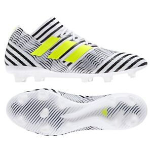 7d926cff0a1b NIB MEN S ADIDAS NEMEZIZ 17.1 FG SOCCER WHITE BLACK VOLT SHOES ...
