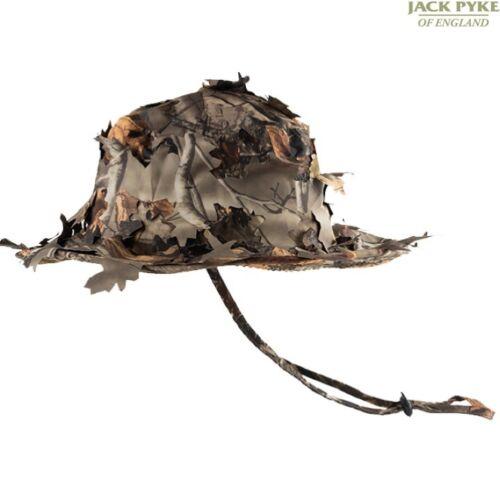 JACK PYKE MENS 3D LEAFY BUSH HAT GHILLIE CONCEALMENT HUNTING CAMO BUSH HEADWEAR