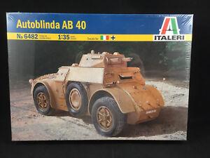 Italeri-Autoblinda-AB-40-1-35-Scale-Plastic-Model-Kit-6482-New-Sealed-Box