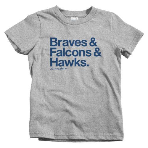 Baby Toddler Youth Tee Loyal To Atlanta Kids T-shirt Gift Baseball Football