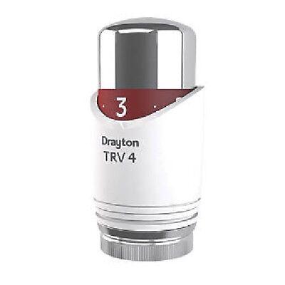 Drayton TRV4 T/ête de/valve thermostatique pour radiateur chrom/é//blanc