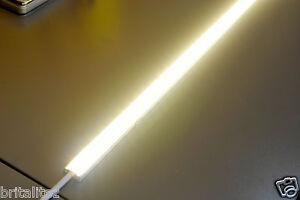 LED starr Lichtband 1 Meter, warm weiss, 12V, 1000mm, Kickboard, Sockel